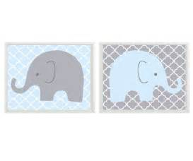 Elephant Nursery Wall Decor by Elephant Nursery Wall Light Blue Gray Decor By