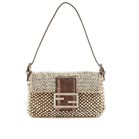 Fendi Embellished Bag by Fendi Mini Baguette Embellished Shoulder Bag In