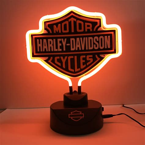 harley davidson neon light harley davidson shield neon light glass house store