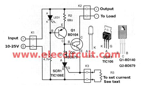 simple electronic fuse circuit wiring diagrams