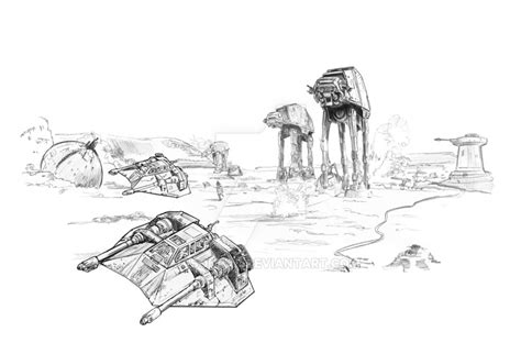 coloring pages hoth battle of hoth by jasonpal on deviantart