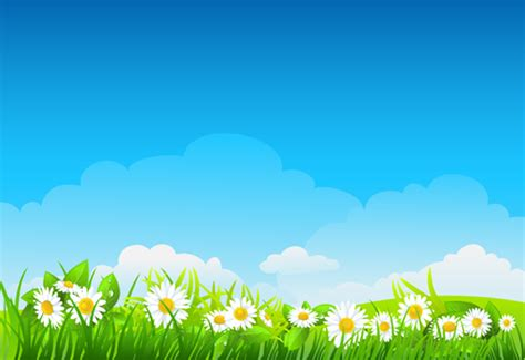 vector wallpaper alam blue sky with nature vector background vector 02 free