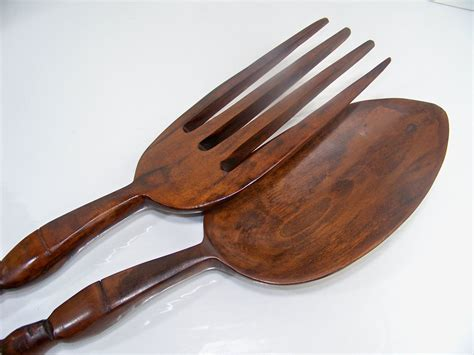 wall fork and spoon large wooden fork and spoon wall decor totem pole design