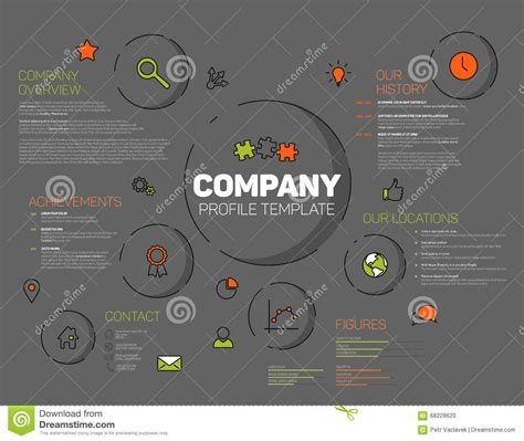 product layout company vector company infographic profile design template stock