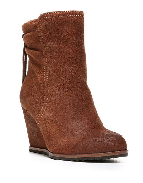 dr scholls ireland suede ankle boots in brown lyst