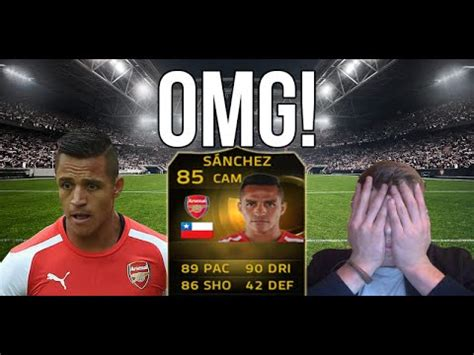 alexis sanchez upgrade fifa 15 omg alexis sanchez is amazing fifa 15 inform sanchez