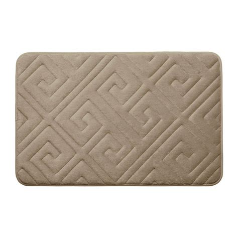 17x24 Bath Mat Bouncecomfort Caicos Linen 17 In X 24 In Memory Foam Bath Mat Ymb003626 The Home Depot