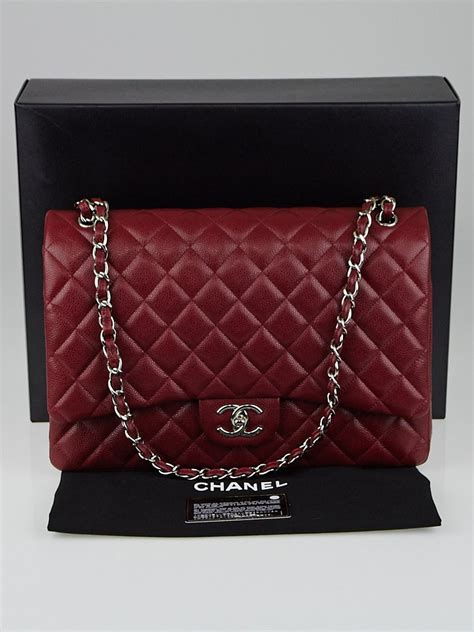 Chanel Maxy Besar 1 chanel burgundy quilted caviar leather classic maxi flap bag yoogi s closet