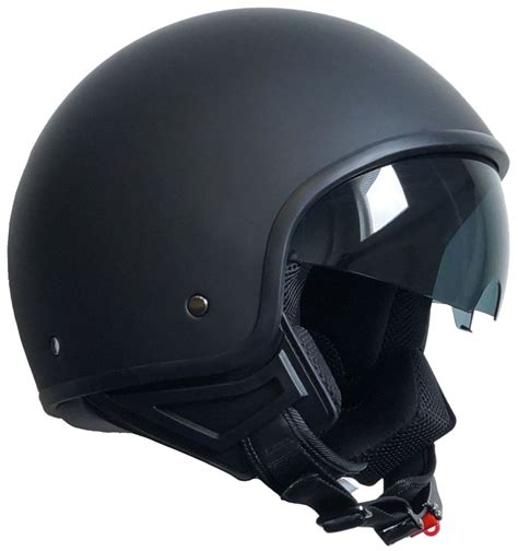 Motorradhelm Nach Sturz by Jethelm 071 Matt Schwarz Chopper Sturz Helm Rollerhelm