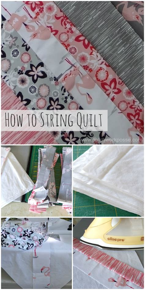 How To Sew A Quilt by How To Sew A String Quilt