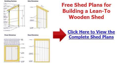 woodwork lean  wood shed plans  plans