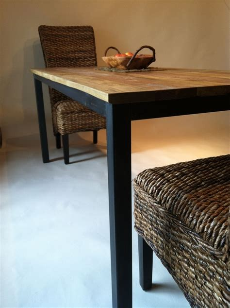 custom made dining room tables handmade dining room table with metal frame by bord