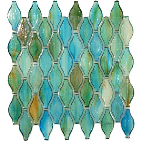 Design For Turquoise Glass Tile Ideas Hirsch Unique Shapes Green Glass Unique Shapes Tile Glossy Iridescent Xi0270