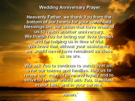 Wedding Anniversary Prayer Quote by Wedding Anniversary Blessing Quotes Quotesgram