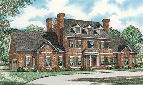 brick colonial house plans impressive brick exterior and column entry add to the