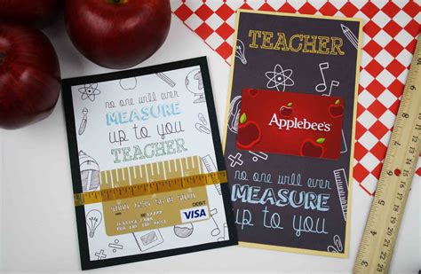 printable restaurant gift cards free printable teacher appreciation gift card measures