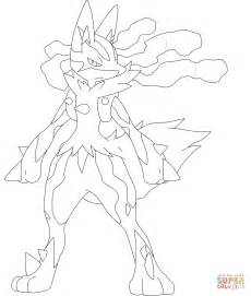 mega coloring pages mega lucario coloring page free printable coloring pages