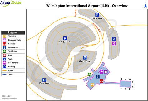 carolina airport terminal map airport maps charts diagrams wilmington international