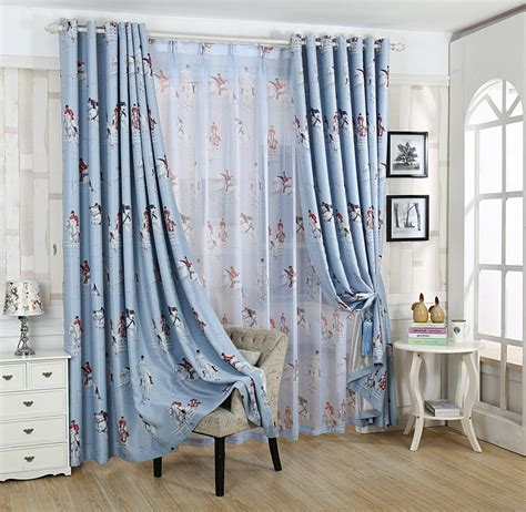 myru blue castle shade cloth curtain childrens bedroom popular blackout childrens curtains buy cheap blackout