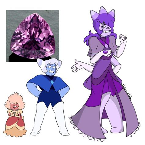 Purple Spinel blue agate padparadscha fusion purple spinel