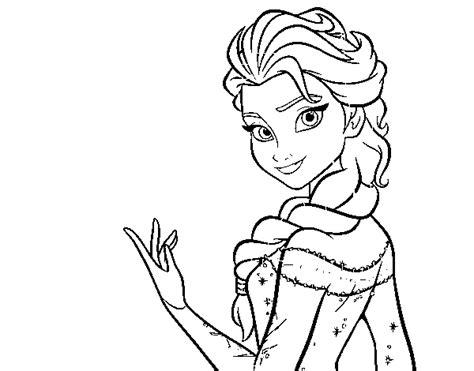 dibujos para colorear de elsa y anna frozen princesas disney dibujo de elsa de frozen para colorear dibujos net