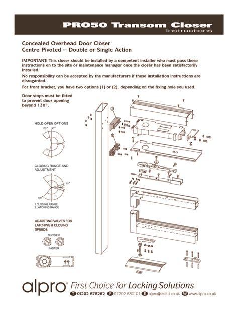 Overhead Door Installation Manual Index Of Acrobat Alpro