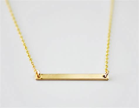 Line Gold Necklace gold bar necklace minimal modern line necklace simple