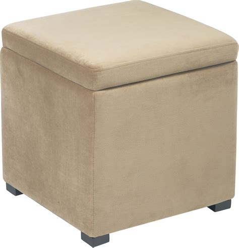 Fabric Storage Ottoman With Tray Avenue Six Detour Storage Cube Ottoman With Tray Coffee Dtr817 C27 Homelement