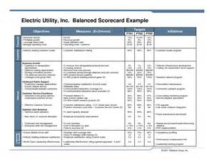 balanced scorecard free template best photos of corporate balanced scorecard exles