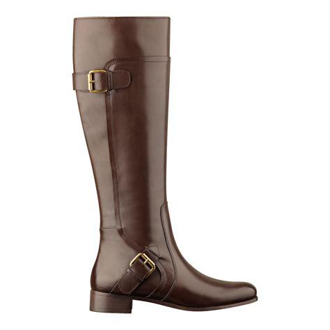 nine west boots nine west sookie boot in brown brown leather lyst