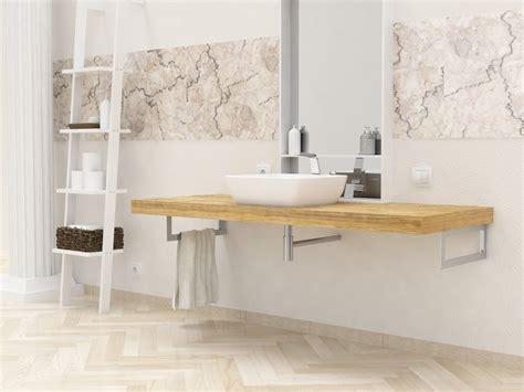 mensole per bagno mensole lavabo in legno massello su