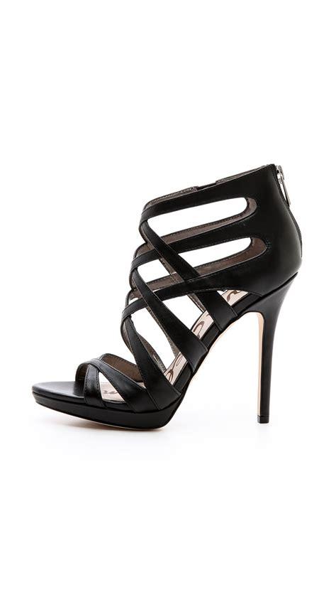 10 Sam Edelman Shoes by Sam Edelman Erin Crisscross Sandals In Black Lyst