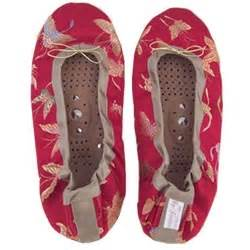 magnetic slippers mojolondon scarlet brocade magnetic slippers small