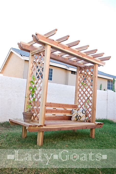pergola bench ana white outdoor bench with arbor diy projects