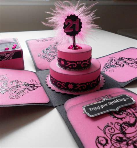 explosion box birthday cake tutorial birthday cake exploding box card invitation on etsy 8