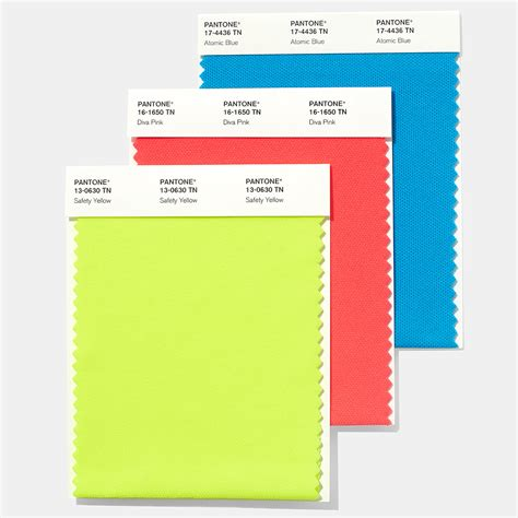 pantone color swatches pantone brights textile swatch card