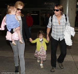 Nicole Kidman, Keith Urban and their children look in good