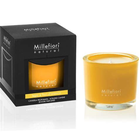 millefiori candele millefiori candela profumata legni e fiori d arancio