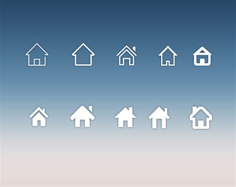 Home Icon Web Design Home Icons Creative Design Psd Material Icons Psd File