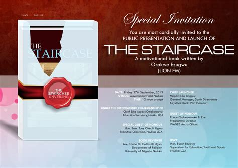 Templates For Book Launch Invitation Card by Potrix Invitation Book Launching The