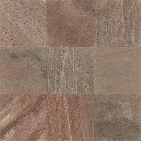 copper polished fully gauged los angeles slate flooring tile 16x16