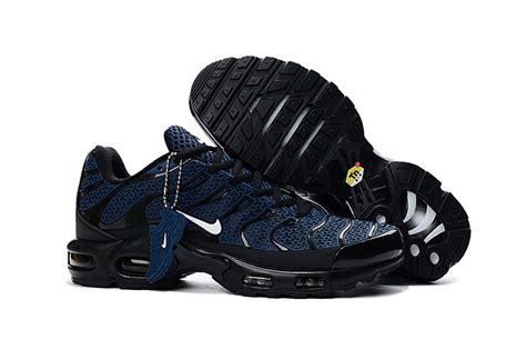nike black and blue running shoes mens nike air max plus txt tn kpu blue black white