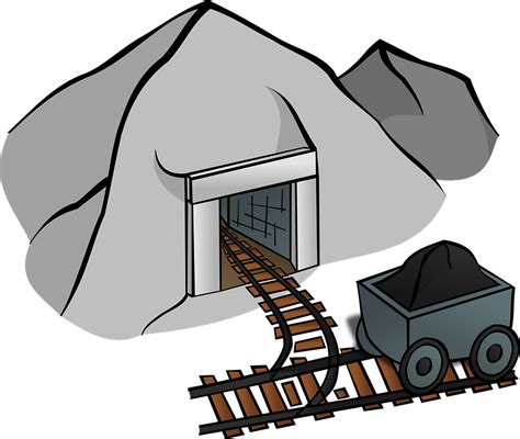 mining clipart coal mine cave 183 free vector graphic on pixabay