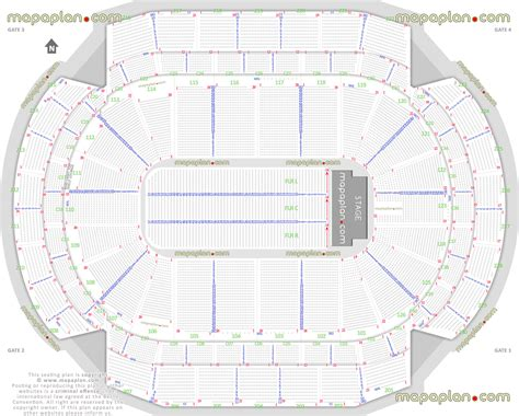 xl center layout xcel energy center detailed seat row numbers end stage