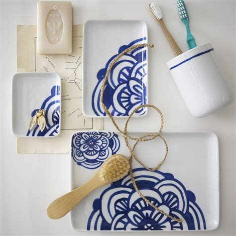 west elm bathroom accessories blue white bath accessories contemporary bathroom