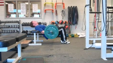 bench glute bridge barbell glute bridges 1 elevated on bench 2 supine on