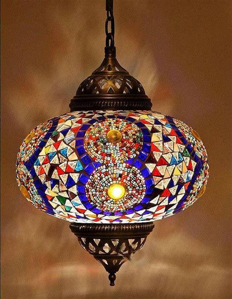 Turkish Mosaic Chandelier Handmade Mosaic Turkish Chandelier L By Decorzen On Etsy 88 00 Lights