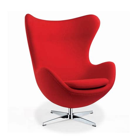 Arne jacobson style egg chair in red wool artis d 233 cor