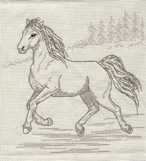 pattern horse drawing horse sketch cross stitch by mostawesomestperson on deviantart