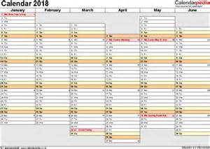 calendar 2018 uk 16 free printable word templates